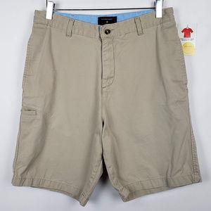 Saddlebred Mens Flat Front Cotton Cargo Shorts